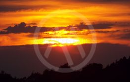 Solnedgång vid Båven
