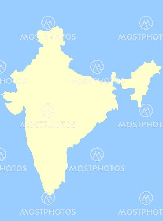 Karta Over Indien Av Speedfighter17 Mostphotos
