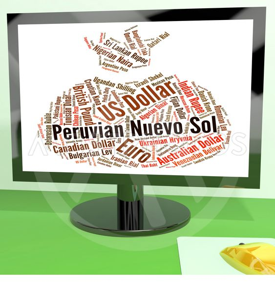 Peruvian Nuevo Sol Shows Foreign Exchange And Coin
