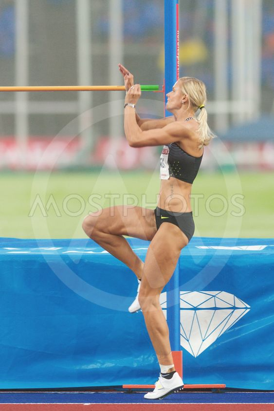 Erika Kinsey in women high jump at the IAAF Diamond...