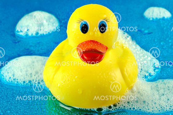 Rubber Duck i bubblor
