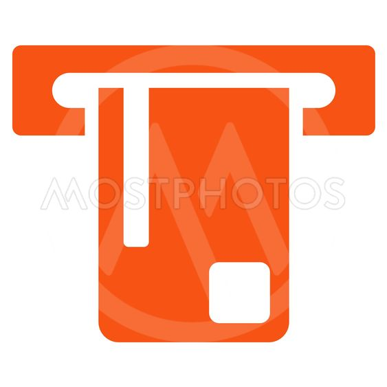 Bank ATM Flat Vector Icon