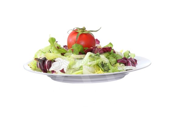 Vegetarian salad with tomato