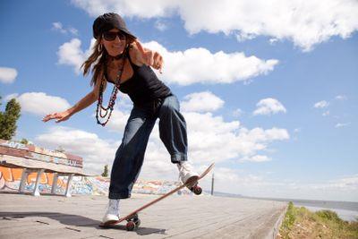cool skateboard woman