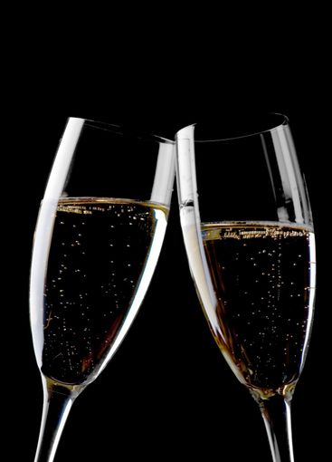 Two glasses champagne