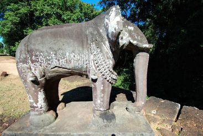 Elephant statue of East Mebon, Cambodia