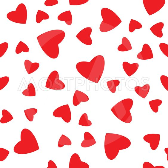 Seamless decorative template with hearts.