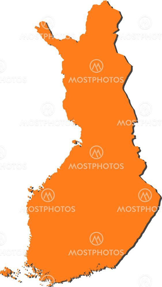 Karta Over Finland Av Steffen Hammer Mostphotos