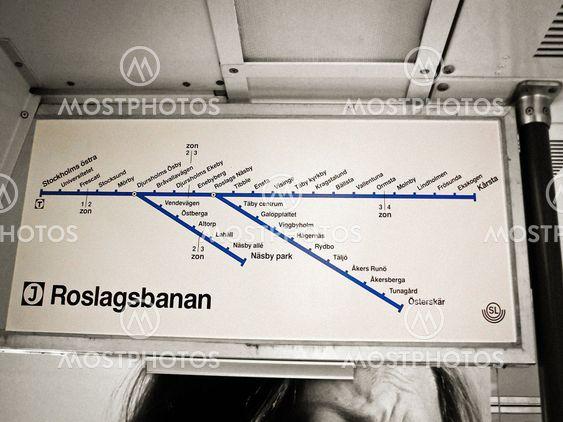 Roslagsbanan line map
