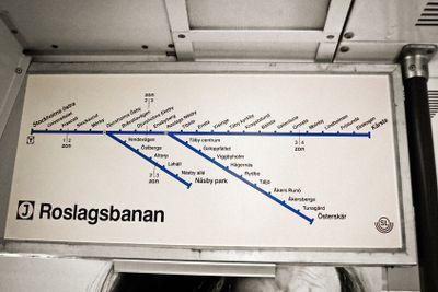Linjekarta över Roslagsbanan