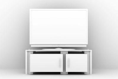White Plasma TV
