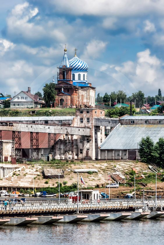 The City Of Birsk. View of the Church of St. Michael the...