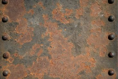 Rusted bridge close up
