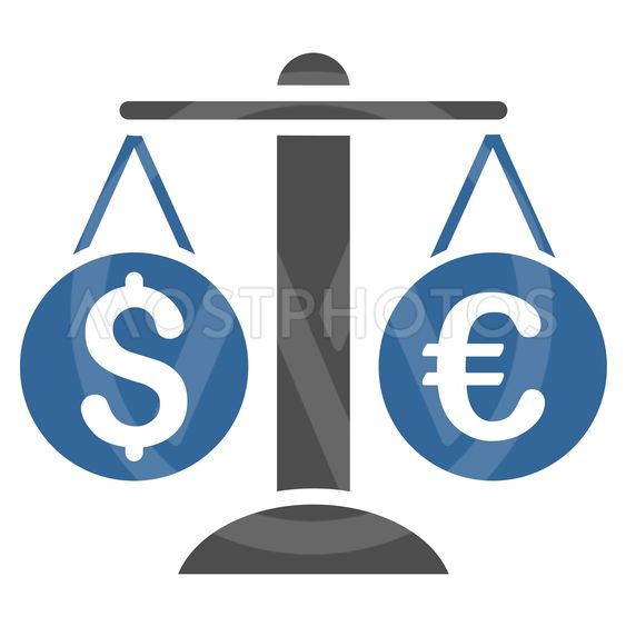 Currency Balance Flat Vector Icon