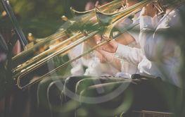 Jazz musicians playing the trombone - Beautiful music /...