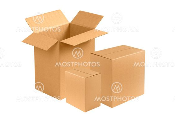 New brown cardboard boxes
