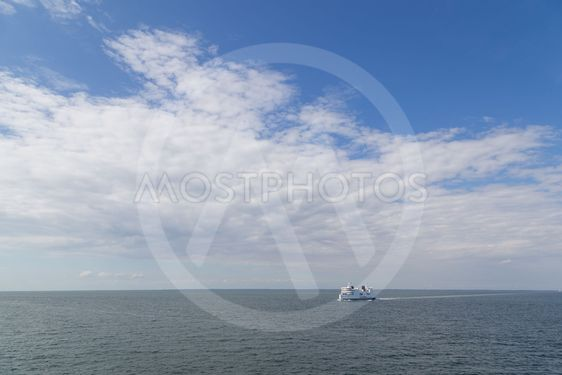 Ferry between Germany and Denmark on Baltic Sea