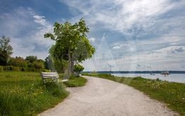 Lake panorama of Starnberger See in Bavaria, Germany
