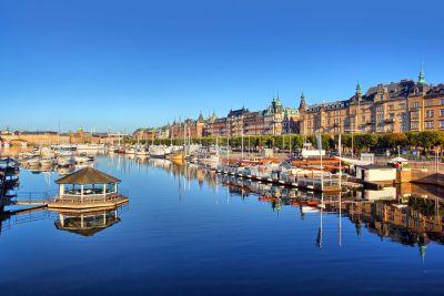 Stockholm panorama shot. View from Djurgardsbron