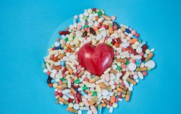 Heart in medication as a cardiology concept