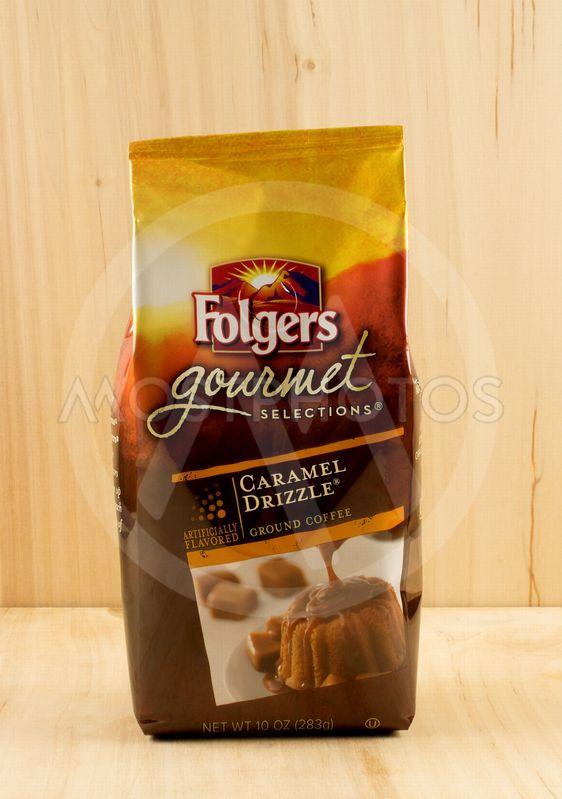 Folgers coffee bag.