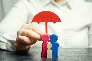 Insurance agent services. Concept of life and health...