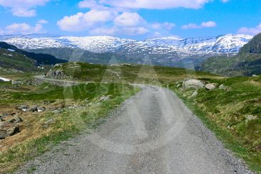 Mountain road in Norway