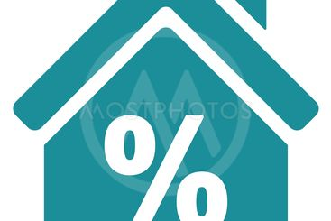 Mortgage Discount Flat Glyph Icon