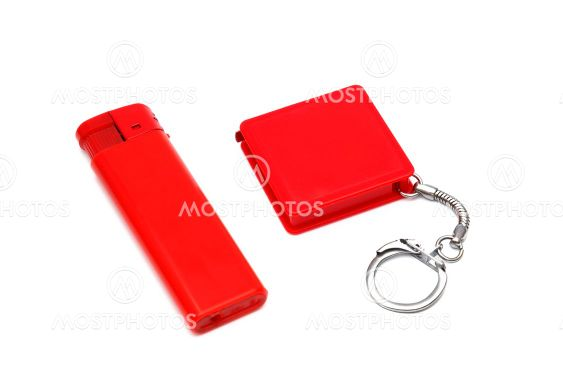 Lighter and measuring tape