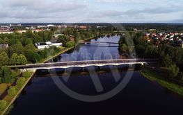 The Tingvalla bridge aerial view