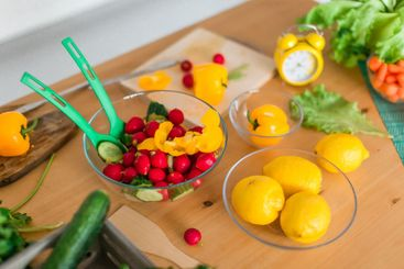 Fresh and bright cooking ingredients - vegetables,...