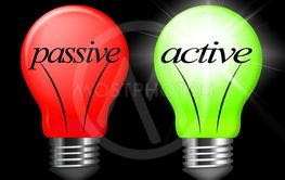 Active Vs Passive Lights Show Positive Attitude 3d...
