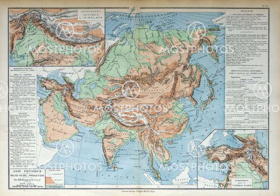 Gammal Karta Over Asien 1883 Av Michael Roberts Mostphotos