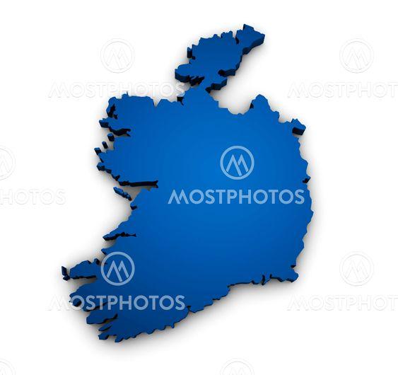 Map Of Ireland 3d.Map Of Ireland 3d Shape By Mmdesigner Mostphotos