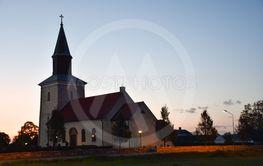 Skymning vid Mörbylånga kyrka på Öland