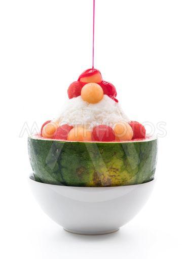 watermelon bingsu dessert