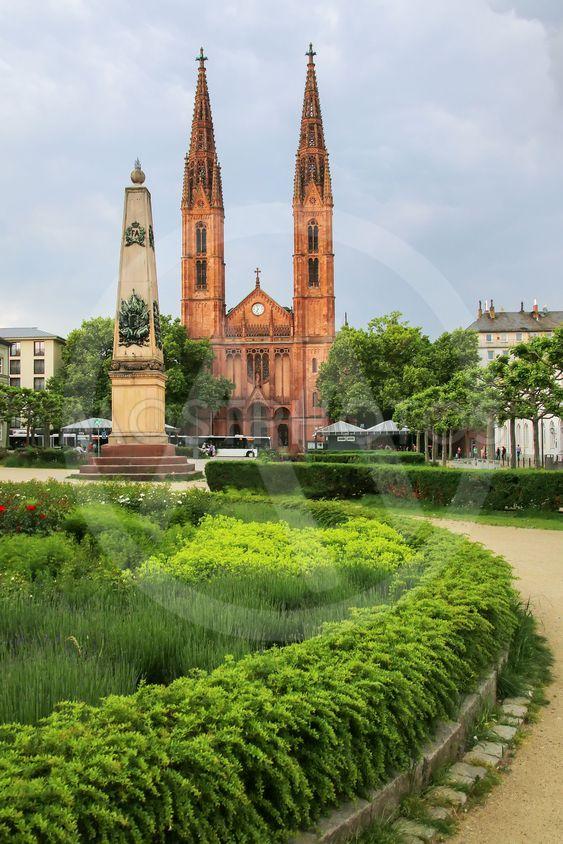 St. Bonifatius church on Luisenplatz square in Wiesbaden,...