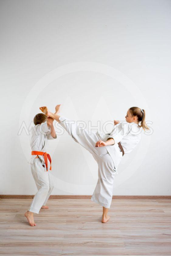 Karate kids training