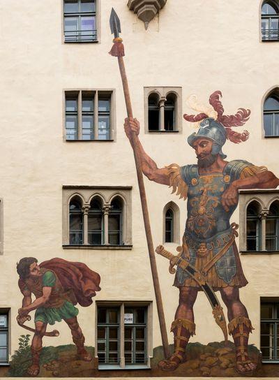 David and Goliath in Regensburg  Germany