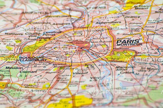 Paris Map By Fernando Barozza Mostphotos