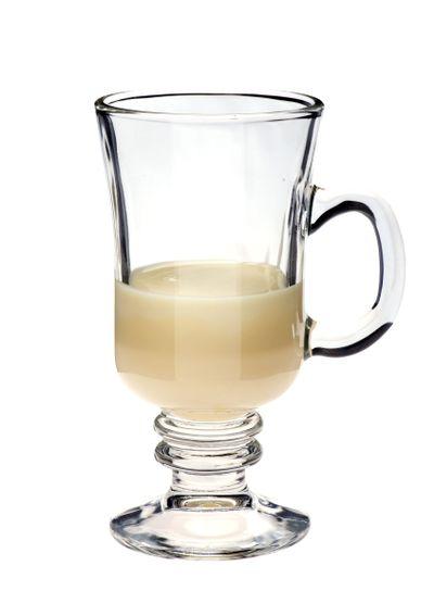 glass Irish coffee with milk