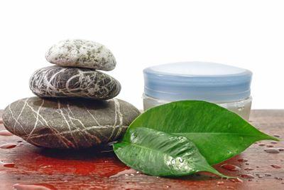 Spa stones and cream therapy zen harmony