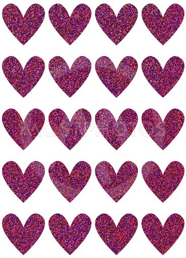 Template with hearts for prints,and for various uses