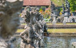 Statue at the Water Palace, Bali