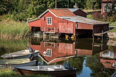 Rött båthus