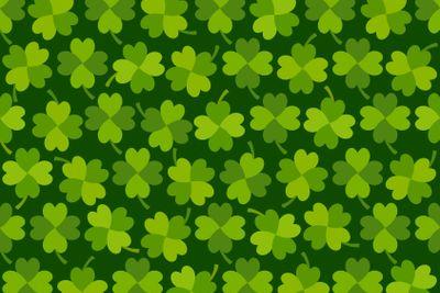 St Patricks day shamrock seamless pattern