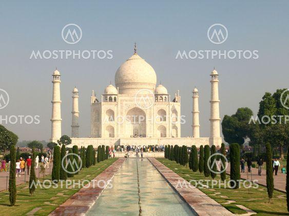 Beautiful white marble of the Taj Mahal