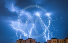 Lightnings Over Housing Estate
