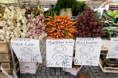 Grönsaker på torget