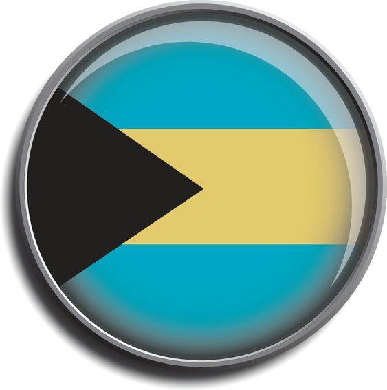 flag icon web button bahamas
